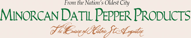 Minorcan Datil Pepper Products Logo
